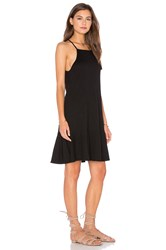 Lanston Drop Flare Mini Dress Black