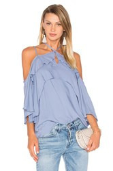 Ella Moss Stella Cold Shoulder Top Blue