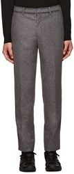 Wooyoungmi Grey Blanket Stitch Trousers