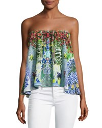 Camilla Embellished Crepe Strapless Top My Majorelle My Marjorelle