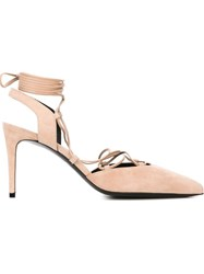 Saint Laurent 'Paris' Pumps Nude And Neutrals