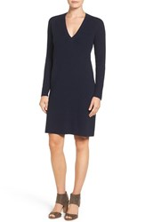 Halogenr Women's Halogen V Neck Sweater Dress Navy Black Marl