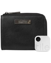 Kenneth Cole Reaction Top Zip Coin Purse With Tracker Black