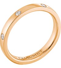 Chaumet Plume 18Ct Rose Gold And Diamond Wedding Band