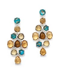 Ippolita Sterling Silver Rock Candy Mixed Prong And Bezel Cascade Earrings In Safari 100 Bloomingdale's Exclusive Multi Silver