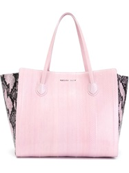 Philipp Plein 'Shading' Tote Pink And Purple