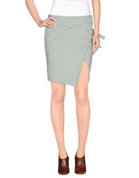 Uniqueness Skirts Mini Skirts Women Light Green