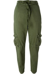 Current Elliott 'The Crossover Pant' Cargo Trousers Green