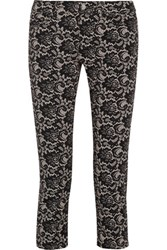 Mcq By Alexander Mcqueen Lace Print Stretch Cotton Skinny Jeans Black