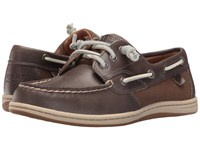 Sperry Songfish Heavy Leather Stone Women's Lace Up Moc Toe Shoes White