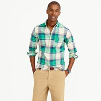 J.Crew Slim Indian Madras Shirt In Dark Pebble