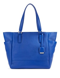 Kenneth Cole Nevins Textured Leather Tote Cobalt