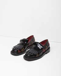 Marni Floral Applique Brogue Black
