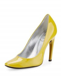 Roger Vivier Patent Leather Slip On Pump G208 Giall