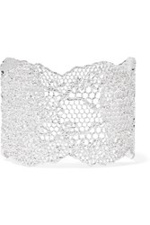 Aurelie Bidermann Lace Silver Plated Cuff