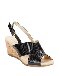 Bandolino Gerie Slingback Wedge Sandals Black