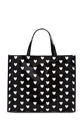 Forever 21 Heart Print Glossy Eco Tote