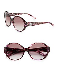 Judith Leiber 57Mm Round Embellished Sunglasses Amethyst
