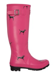 Joules Printed Tall Welly Pink