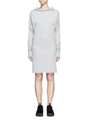 Norma Kamali 'All In One' Convertible Cotton Jersey Dress Grey