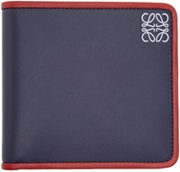 Loewe Navy Leather Bifold Wallet