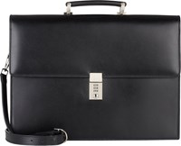 Barneys New York Combination Lock Briefcase Black