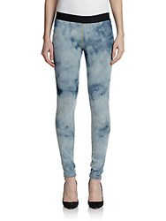 Made Gold Liz Denim Knit Leggings Blue