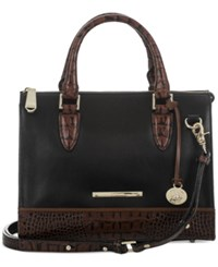 Brahmin Tuscan Tri Texture Anywhere Convertible Satchel Black