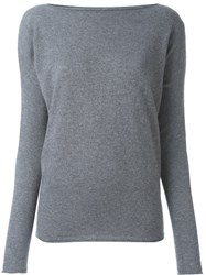Roberto Collina Boat Neck Jumper Grey
