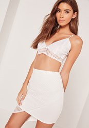Missguided Fishnet Bralet White White