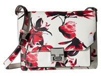 Ivanka Trump Hopewell Shoulder Flap Petal Painted Petal Non Leather Cross Body Handbags White