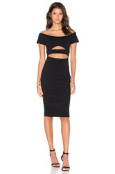 Donna Mizani Marilyn Cut Out Midi Dress Black