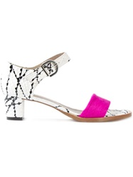 Avril Gau Abstract Print Sandals White