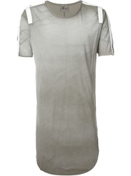 Lost And Found Taped T Shirt Grey
