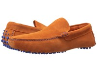 Dune Bermuda Orange Suede Men's Slip On Shoes