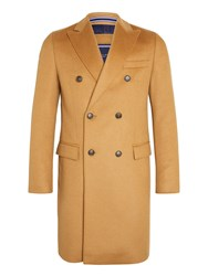 Tommy Hilfiger Gimon Tailored Overcoat Tan