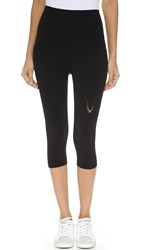 Lucas Hugh Technical Knit Capri Leggings Black