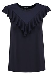 New Look Print Tshirt Navy Dark Blue