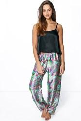 Boohoo Satin Floral Trouser And Cami Night Set Multi