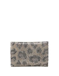 Hobo Leather Snap Button Wallet Cheetah Simmer
