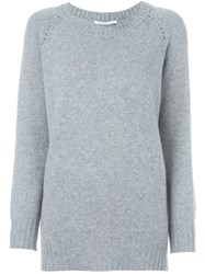 Agnona Scoop Neck Jumper Grey