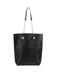 Sophia Webster Izzy Butterfly Embossed Leather Tote Black