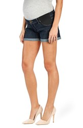 Women's Paige Denim 'Jimmy Jimmy' Cuffed Denim Maternity Shorts Langston