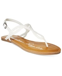 American Rag Keira Braided Flat Sandals Only At Macy's Women's Shoes White