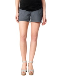 Motherhood Maternity Secret Fit Belly Cargo Shorts Grey