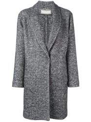 Fabiana Filippi Herringbone Coat Grey