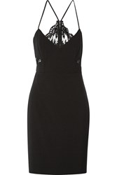 Mason By Michelle Mason Lace Paneled Cady Dress