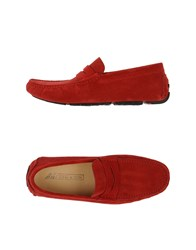K852 And Son Footwear Moccasins Men Red