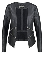 Noisy May Nmpeach Faux Leather Jacket Black