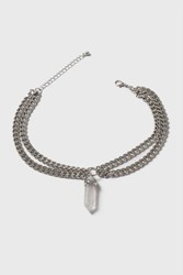 Topshop Shard Drop And Chain Choker Clear